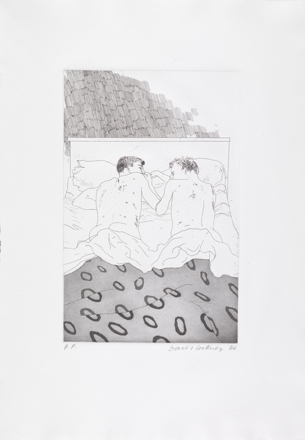 """Image of Two Boys Aged 23 or 24 from """"Illustrations for Fourteen Poems from C.P. Cavafy"""""""