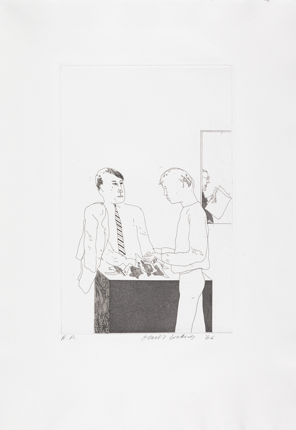 """Image of He Enquired After the Quality from """"Illustrations for Fourteen Poems from C.P. Cavafy"""""""