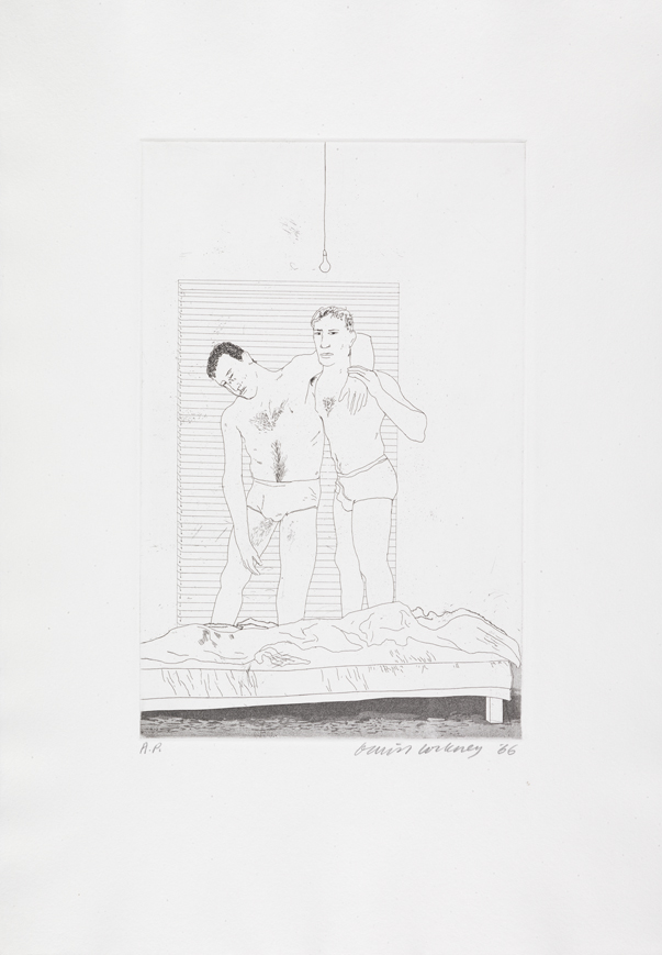 """Image of One Night from """"Illustrations for Fourteen Poems from C.P. Cavafy"""""""