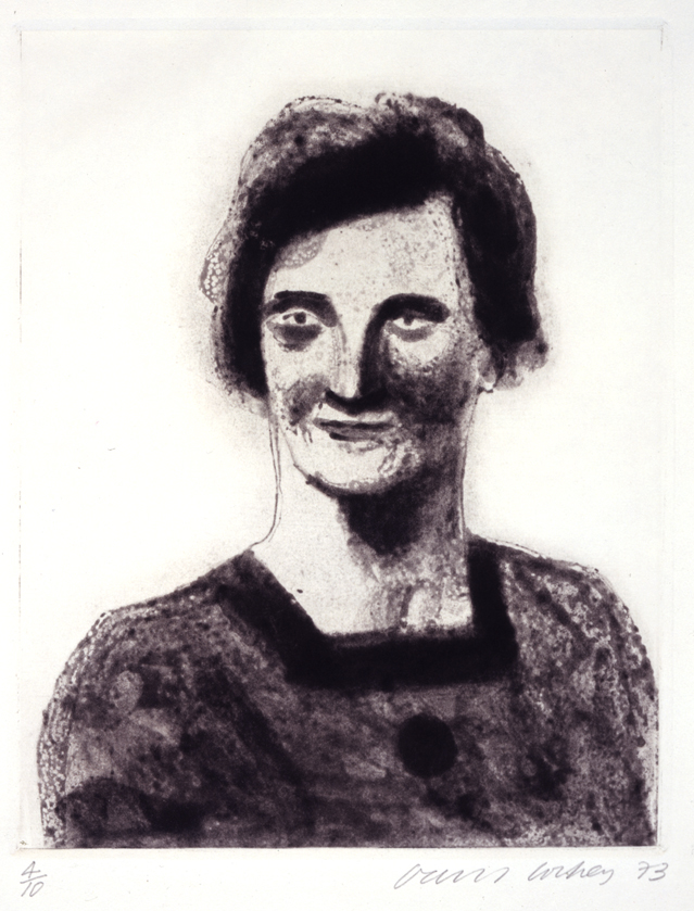 "Image of My Mother at Age Twenty (from a photograph) as a Study for Félicité in ""A Simple Heart"" of Gustave Flaubert"