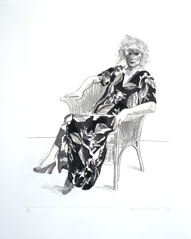 Image of Celia in a Wicker Chair (Black Version)