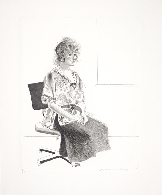 Image of Celia Seated on an Office Chair (Black Version)