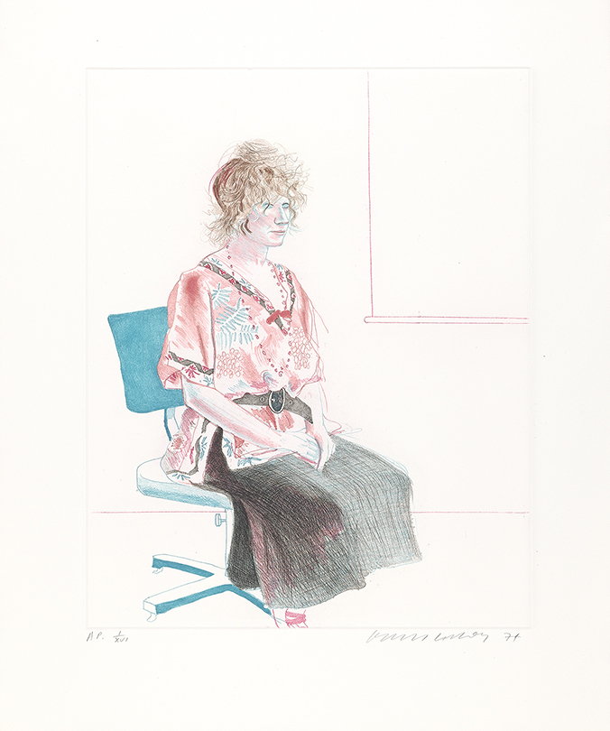 Image of Celia Seated on an Office Chair (Color)