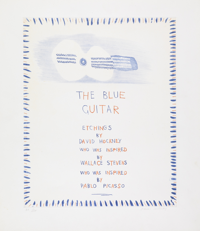 "Image of The Blue Guitar, Frontispiece from ""The Blue Guitar"""