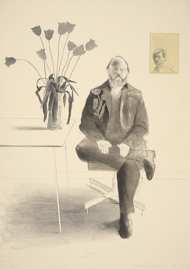 Image of Henry Seated with Tulips