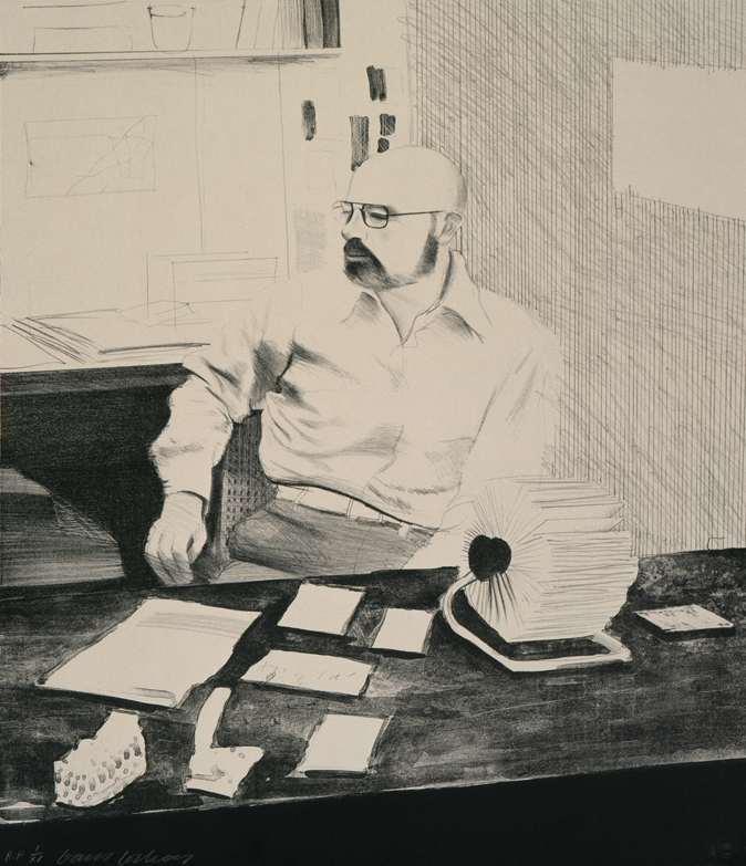 Image of Sidney in His Office