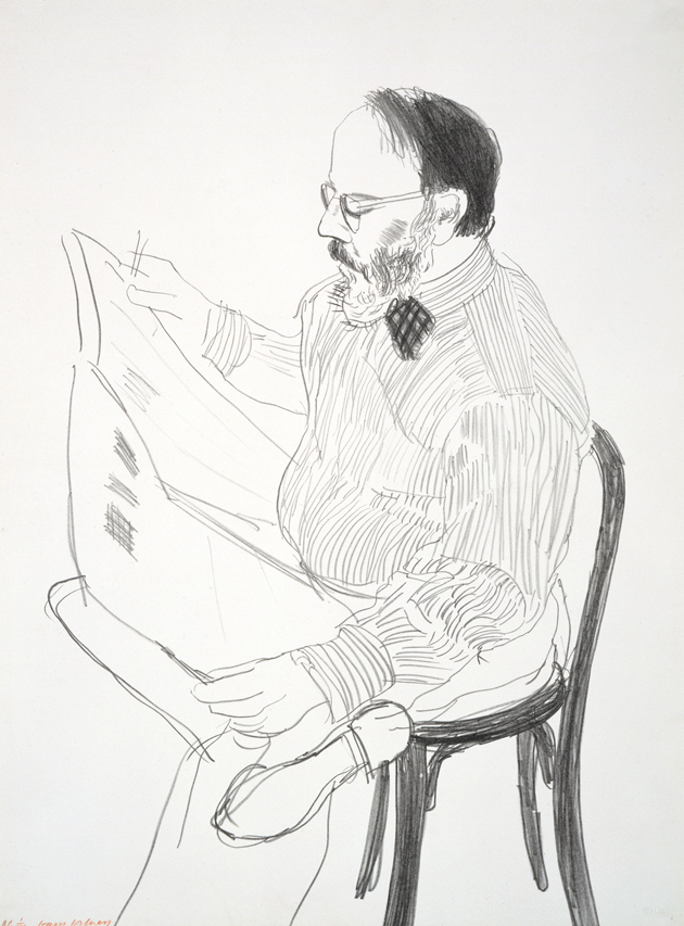 Image of Henry Reading the Newspaper