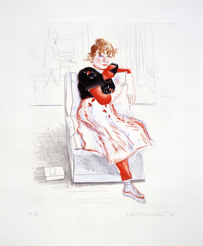 Image of Celia Observing (Color)