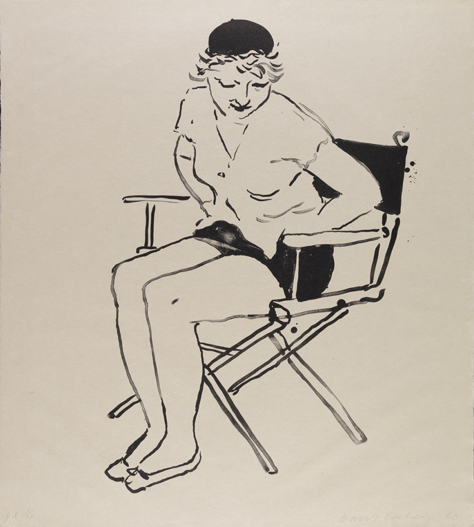 Image of Celia in the Director's Chair