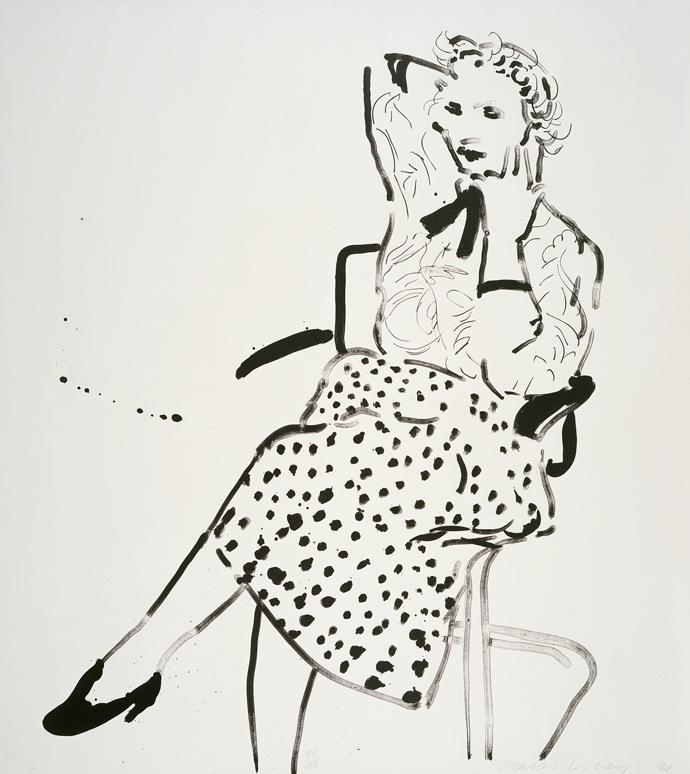 Image of Celia in a Polka-Dot Skirt