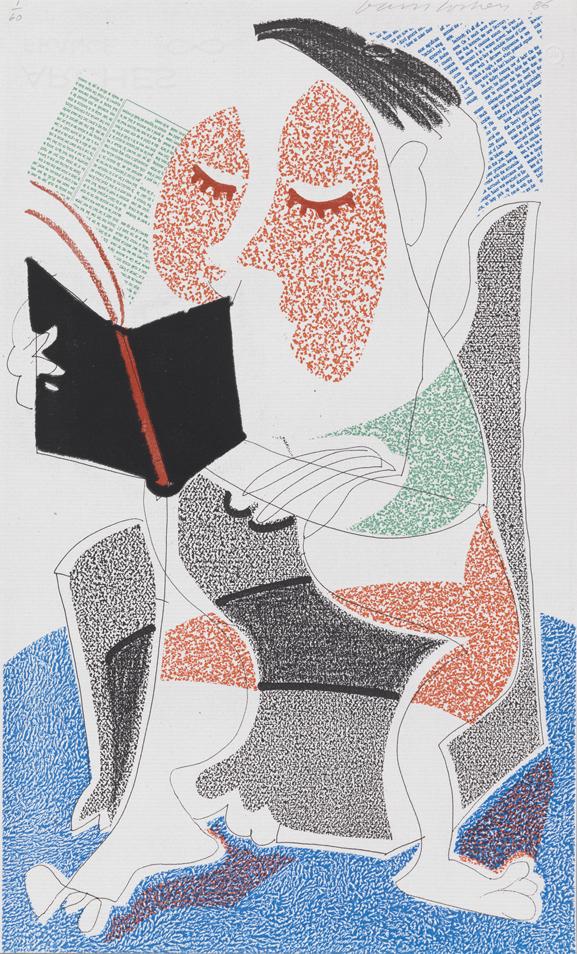 Image of Man Reading Stendhal, July 1986