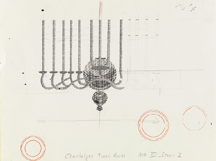 "Image of Chandelier, Tom's Room from ""The Rake's Progress"""