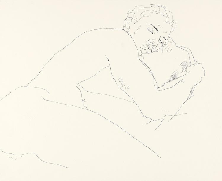 Image of Gregory Sleeping Nude, Fire Island