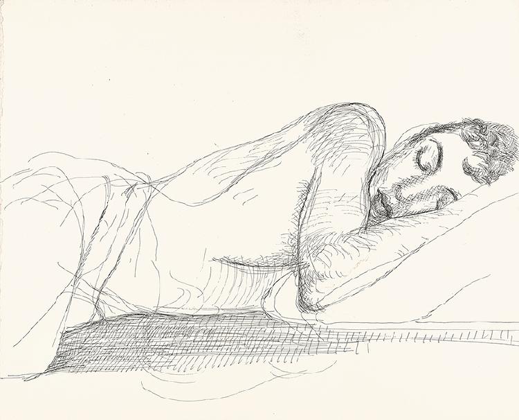 Image of Gregory Sleeping, Fire Island