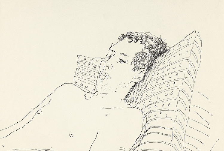 Image of Gregory Reclining, Fire Island