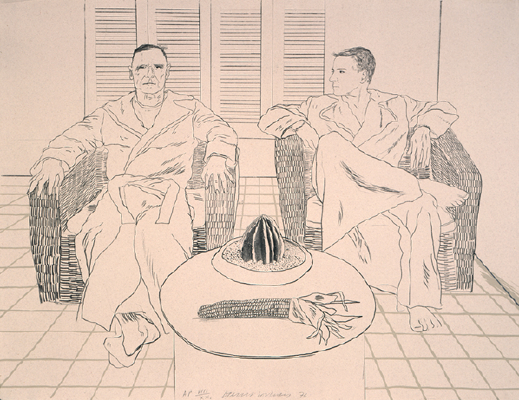 Image of Christopher Isherwood and Don Bachardy