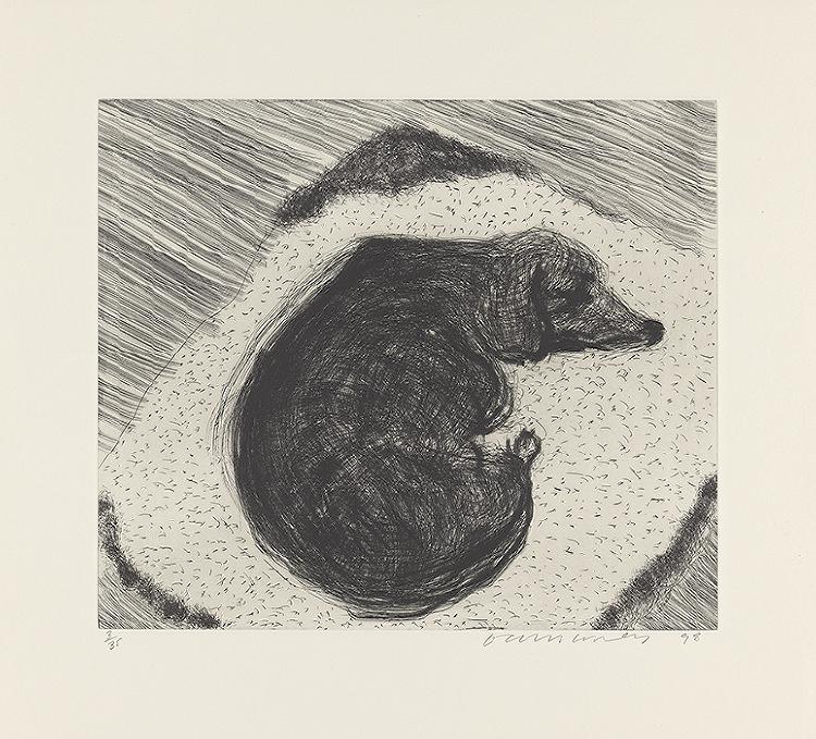 Image of Dog Etching No. 3