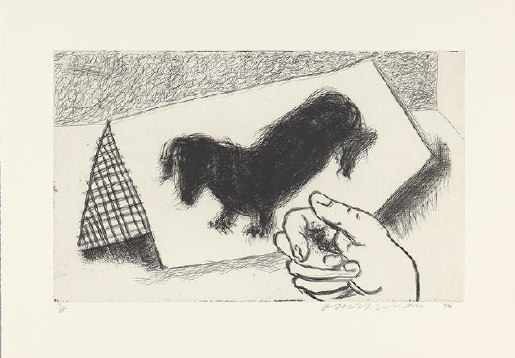Image of Dog Etching No. 13