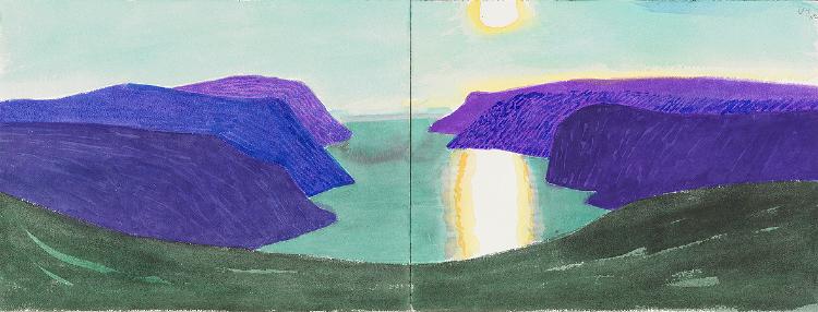 Image of Tufjorden and Midnight Sun