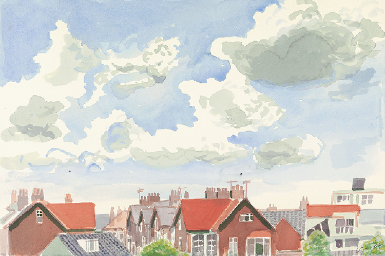 "Image of Bridlington. Rooftops and Clouds from ""Midsummer: East Yorkshire"""
