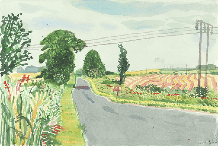 "Image of Yorkshire, Summer, with Power Line from ""Midsummer: East Yorkshire"""