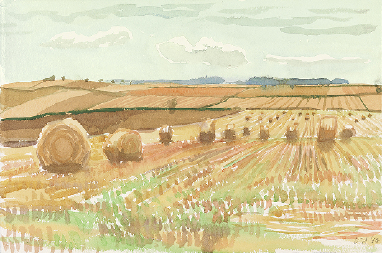 "Image of Harvest Landscape. East Yorkshire. from ""Midsummer: East Yorkshire"""
