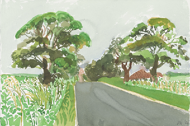 "Image of Bungalow and Trees. East Yorkshire II. from ""Midsummer: East Yorkshire"""