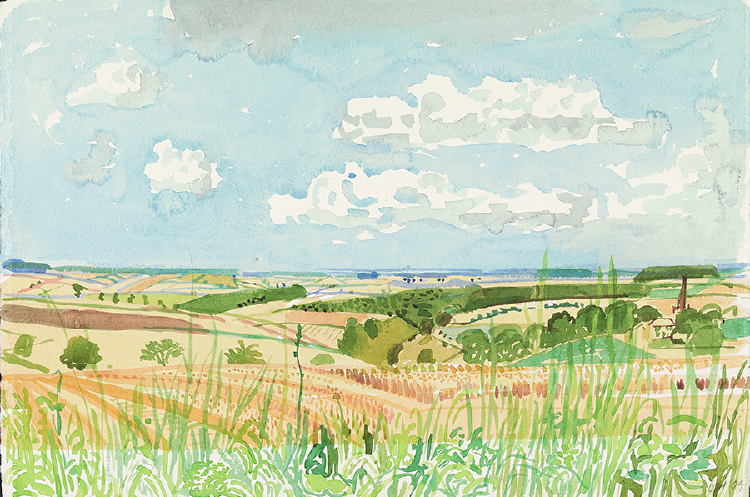 "Image of Looking towards Huggate. Late Summer from ""Midsummer: East Yorkshire"""