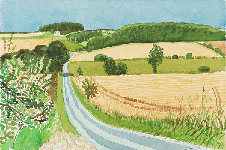 "Image of Road and Cornfields. East Yorkshire. from ""Midsummer: East Yorkshire"""
