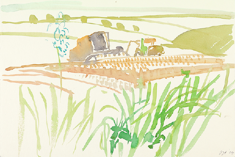 "Image of Combine Harvester. East Yorkshire. from ""Midsummer: East Yorkshire"""