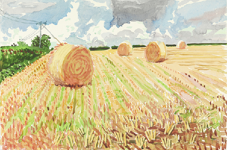 "Image of Straw Bales and Stubble. East Yorkshire from ""Midsummer: East Yorkshire"""