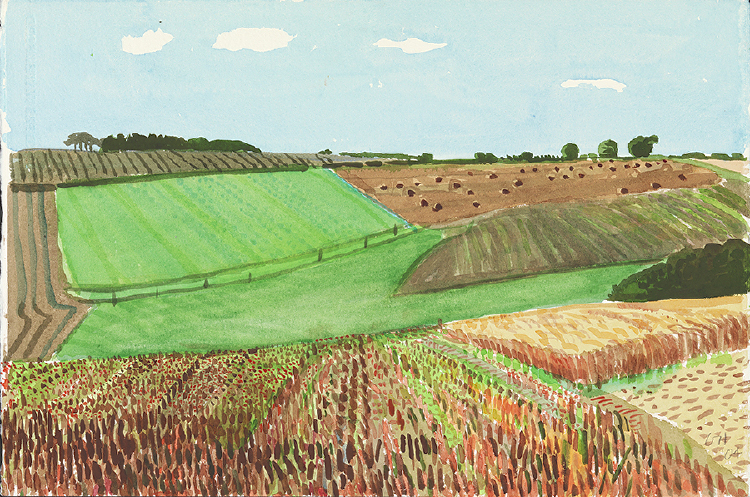 "Image of Stubble and Still-Green Fields. East Yorkshire from ""Midsummer: East Yorkshire"""