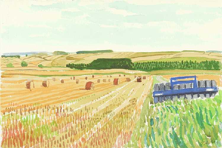 "Image of Harvest, with Farm Equipment from ""Midsummer: East Yorkshire"""