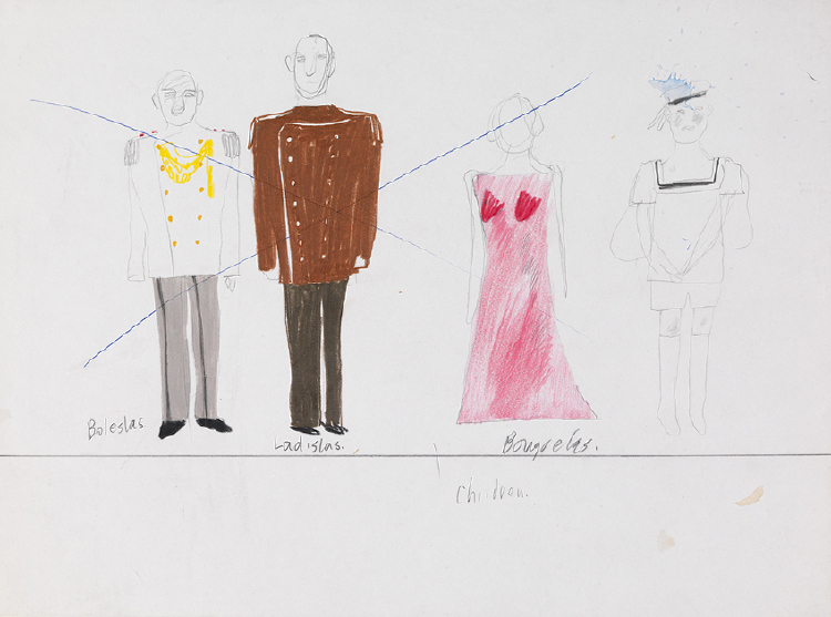 """Image of Costume Drawing from """"Ubu Roi"""""""