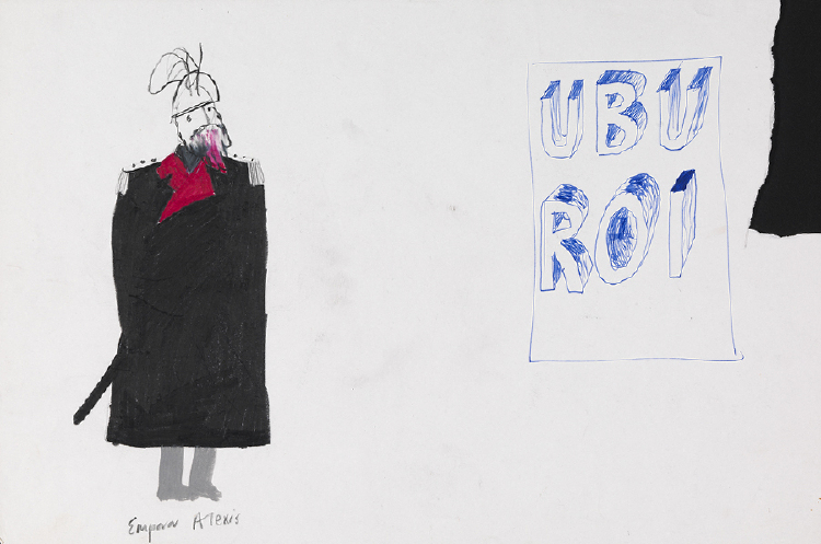 """Image of Emperor Alexis from """"Ubu Roi"""""""