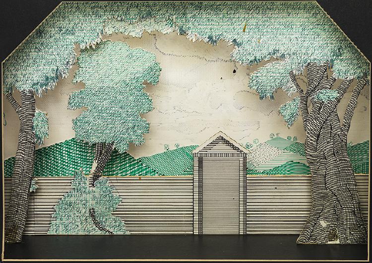 "Image of Trulove's Garden from ""The Rake's Progress"""