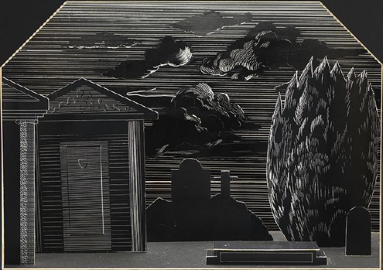"Image of Graveyard from ""The Rake's Progress"""