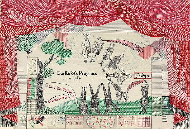 "Image of Drop Curtain from ""The Rake's Progress"""