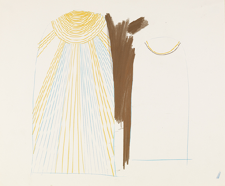 "Image of Study for Sarastro's Cloak from ""The Magic Flute"""