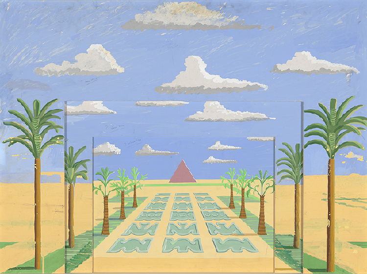 "Image of Act II, Scene I. An Avenue of Palms from ""The Magic Flute"""