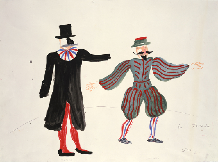 """Image of Costume Sketches from """"Parade Triple Bill"""""""