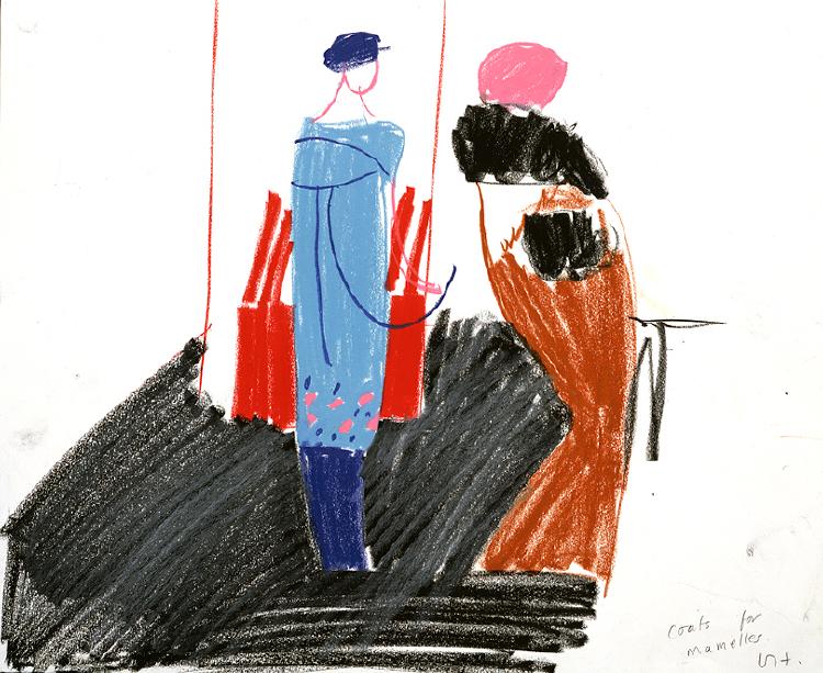 """Image of Coats from """"Les mamelles de Tirésias"""""""