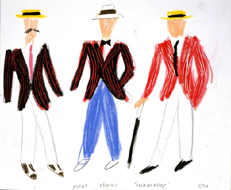 """Image of Mens Chorus from """"Les mamelles de Tirésias"""""""