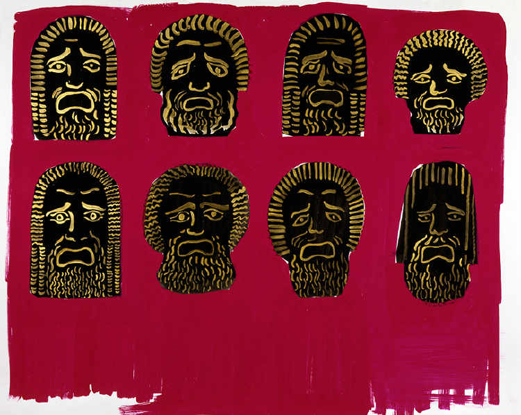 "Image of Mask Studies from ""Oedipus Rex"""