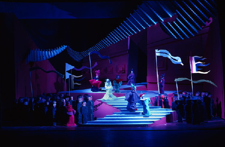 "Image of Act II, Scene II, 1 1/2"" Scale Model, Final Version from ""Turandot"""
