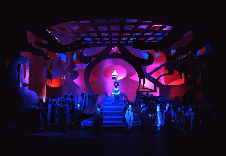 "Image of Act III, Scene II, 1 1/2"" Scale, Final Version from ""Turandot"""
