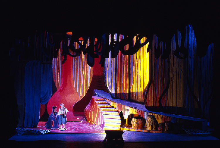 "Image of Barak's Hovel, 1 1/2"" Scale Model Act I/II Scene II/I,III,V, Final Version from ""Die Frau Ohne Schatten"""