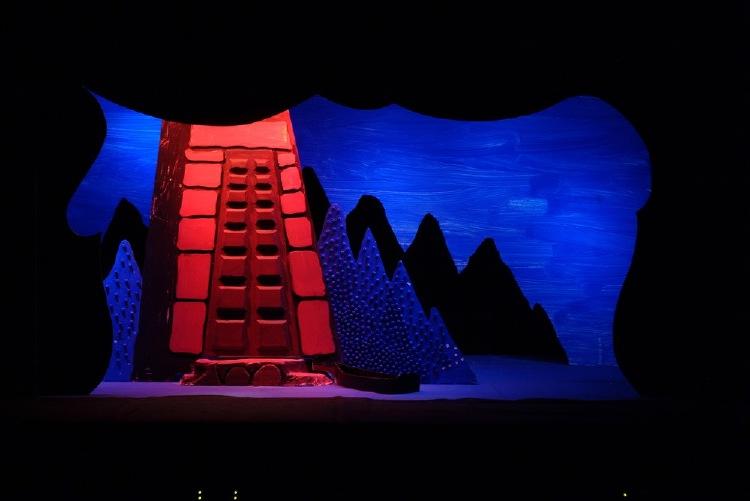 "Image of Island, 1 1/2"" Scale Model Act III, Scene II, Final Version from ""Die Frau Ohne Schatten"""